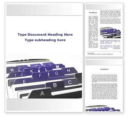 Alphabetical Registry Word Template, 09764, Consulting — PoweredTemplate.com