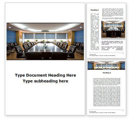 Corporate Conference Hall Word Template, 09766, Business — PoweredTemplate.com
