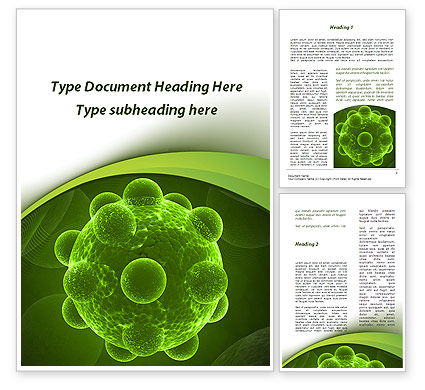 Virus Under An Electron Microscope Word Template, 09767, Technology, Science & Computers — PoweredTemplate.com