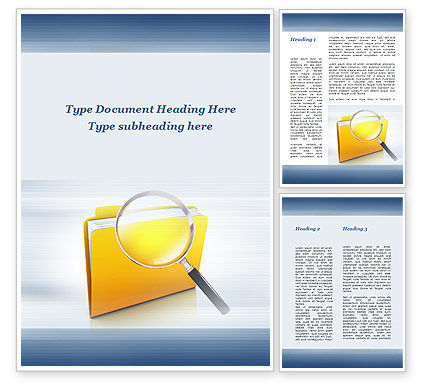 Searching Documents Word Template, 09771, Consulting — PoweredTemplate.com