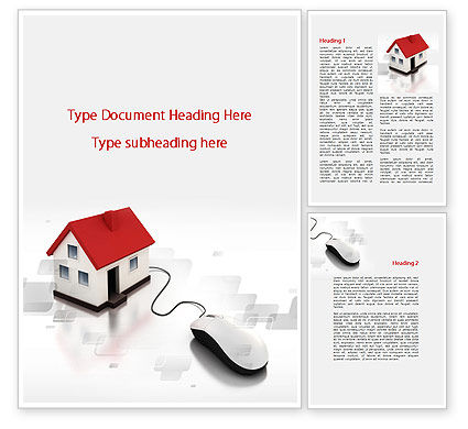 Modern House Word Template, 09772, Construction — PoweredTemplate.com