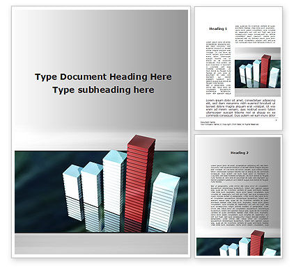 Business Concepts: Bar Chart Word Template #09775