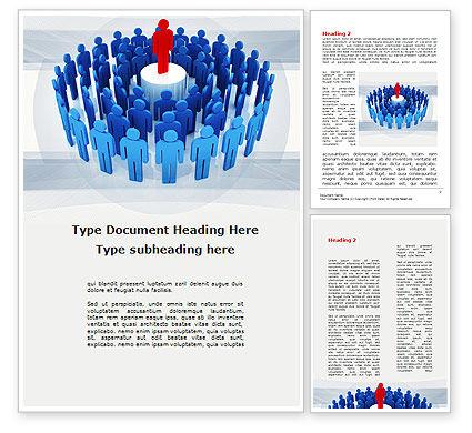 Leader Erected On Pedestal Word Template, 09777, Business — PoweredTemplate.com