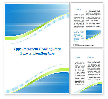 Abstract/Textures: Green Wave Dissecans Blue-White Image Diagonal Word Template #09790