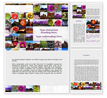American Wild Life Word Template, 09797, Nature & Environment — PoweredTemplate.com