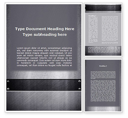 Abstract/Textures: Steel Plate Word Template #09801