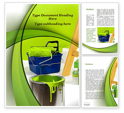 Green Paint Cun Word Template