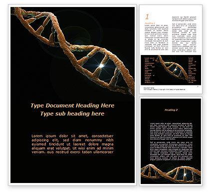 Medical: Defective Gene Word Template #09803