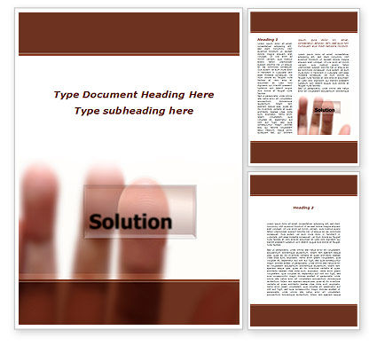 Solution Button Word Template, 09806, Consulting — PoweredTemplate.com