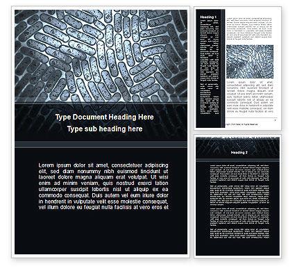 Colibacillus Word Template, 09812, Medical — PoweredTemplate.com