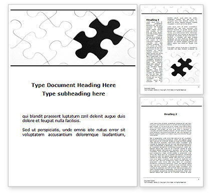 Abstract/Textures: Last Step To Complete Puzzle Word Template #09816