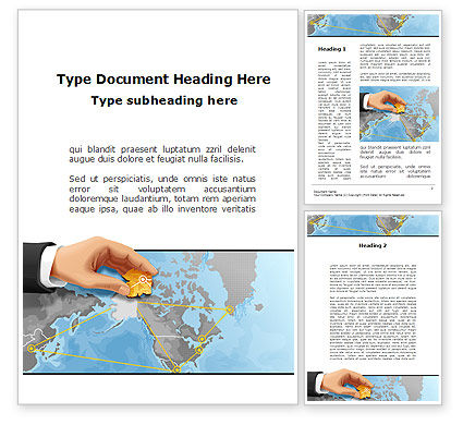 Alaska Switching Node Word Template, 09820, Telecommunication — PoweredTemplate.com