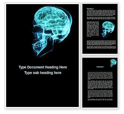 MRT Of Cranial Cavity Word Template, 09822, Medical — PoweredTemplate.com