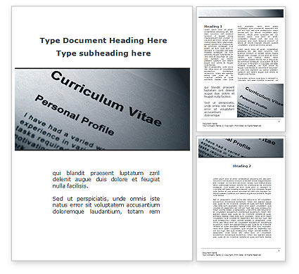 Education & Training: Ordinary Curriculum Vitae Word Template #09823