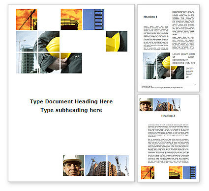 Those Who Build The Cities Word Template, 09825, Utilities/Industrial — PoweredTemplate.com
