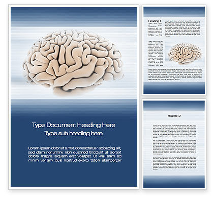 Medical: 워드 템플릿 - 인간 두뇌 준비 #09833