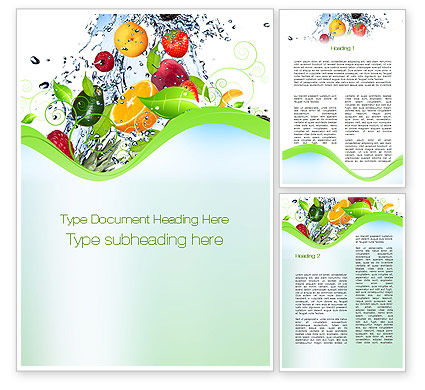 Food & Beverage: Summer Fruits Word Template #09836