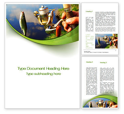 Summer Fishing Word Template, 09837, Holiday/Special Occasion — PoweredTemplate.com