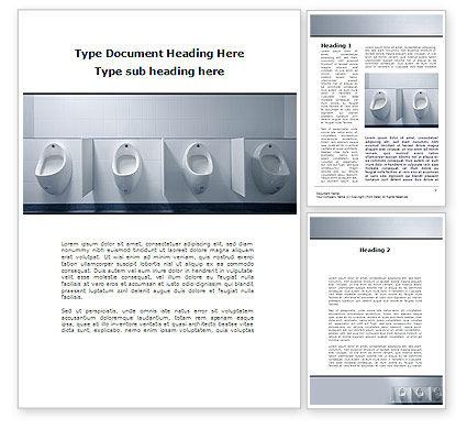 Construction: Plumbing Equipment Word Template #09845