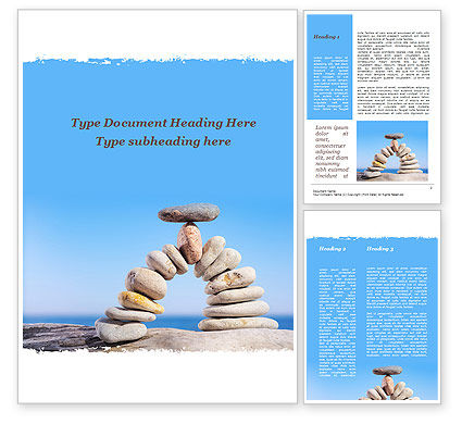 Nature & Environment: Stone Arch On The Beach Word Template #09855