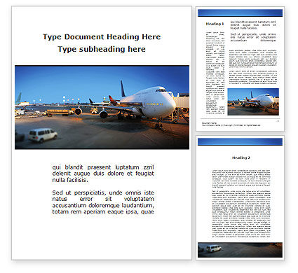 Airport Service Word Template, 09856, Cars/Transportation — PoweredTemplate.com