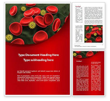Medical: 血液中的病毒Word模板 #09857