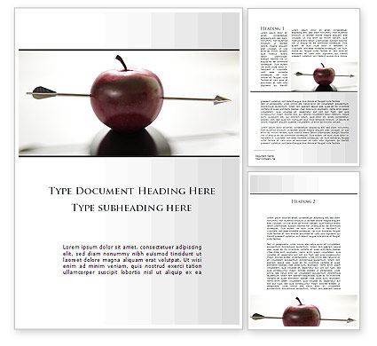 Apple Of William Tell Word Template, 09862, Consulting — PoweredTemplate.com