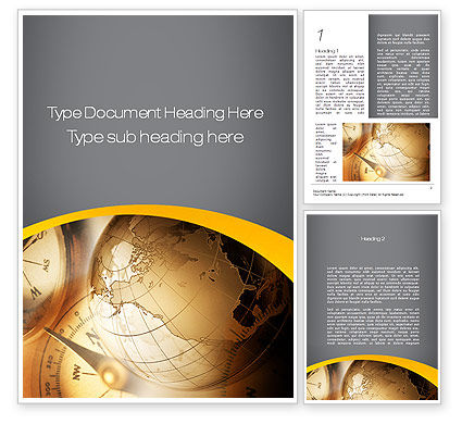 Navigation In Global Business Word Template, 09865, Global — PoweredTemplate.com