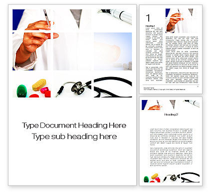 Medical: Educational Medical Word Template #09874