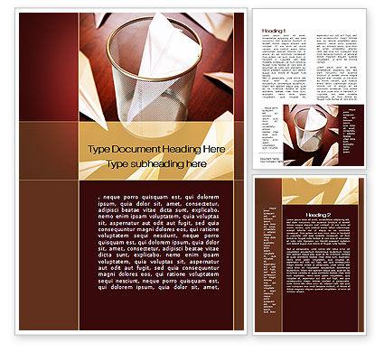 Broken Dreams Word Template, 09881, Business Concepts — PoweredTemplate.com