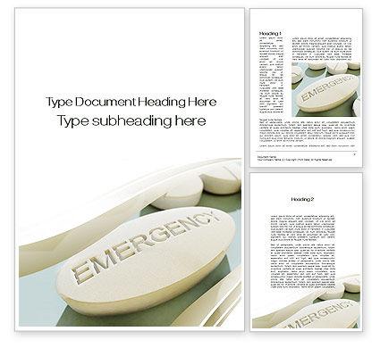 Medical: Emergency Tablet Word Template #09883