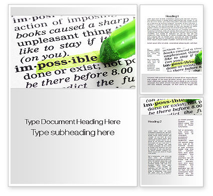 To Make It Possible Word Template, 09885, Consulting — PoweredTemplate.com