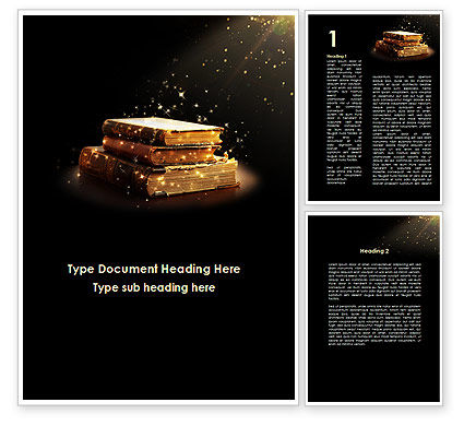 Blessed Book Of The Holy Scriptures Word Template