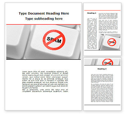 Anti Spam Defense Word Template, 09891, Technology, Science & Computers — PoweredTemplate.com