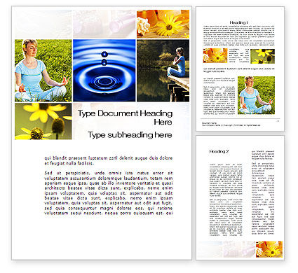 Medical: Outdoor Meditation Word Template #09894