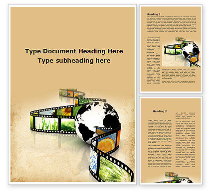 Nature Documentary Movies Word Template, 09907, Nature & Environment — PoweredTemplate.com