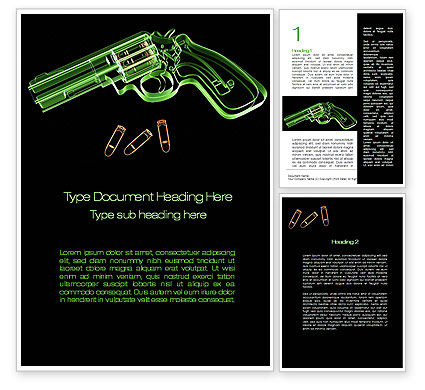 Military: Inside The Revolver Word Template #09922