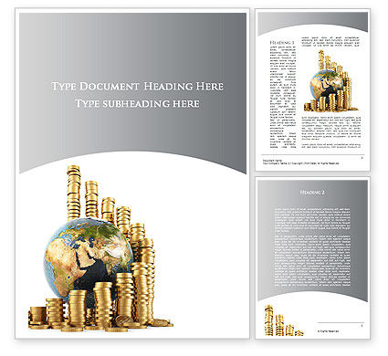 World Financial Reserves Word Template, 09933, Financial/Accounting — PoweredTemplate.com