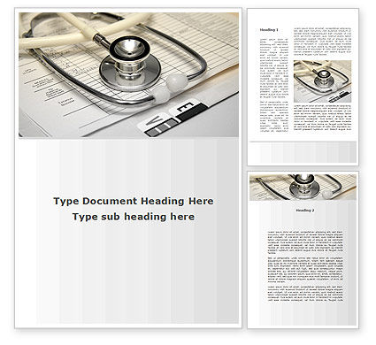 Medical: Doctor Accessories Word Template #09940