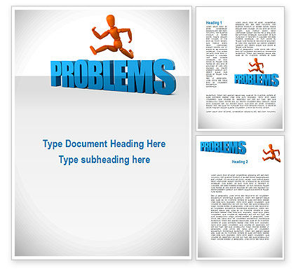 Consulting: Jumping Over Problems Word Template #09941