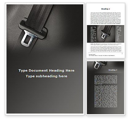 Cars/Transportation: Seat Belt Word Template #09942