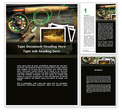 Fishing Tackle Word Template, 09947, Holiday/Special Occasion — PoweredTemplate.com
