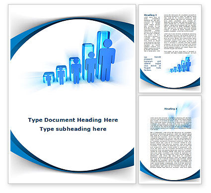 Rise Of Population In Histogram Word Template, 09952, Consulting — PoweredTemplate.com