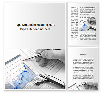 Financial/Accounting: Analysis Of Market Trends Word Template #09956