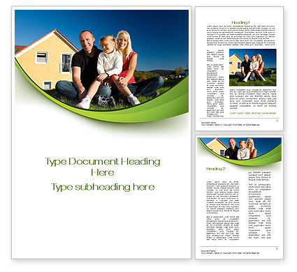 Consulting: Townhouse of Happy Family Word Template #09957