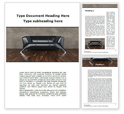 Sofa Word Template, 09963, Business Concepts — PoweredTemplate.com