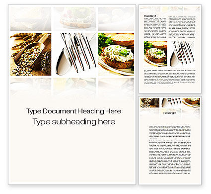 Durum Wheat Products Word Template, 09966, Food & Beverage — PoweredTemplate.com