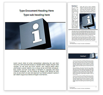 Consulting: Information Box Word Template #09969