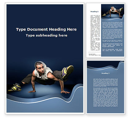 Sports: Street Dancer Word Template #09974