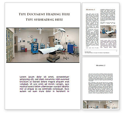 Medical: Medical Equipment For Operation Room Word Template #09979